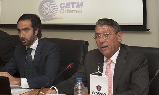 presidente CETM Cisternas Federico Martín y director general de Transporte Terrestre, Joaquín del Moral
