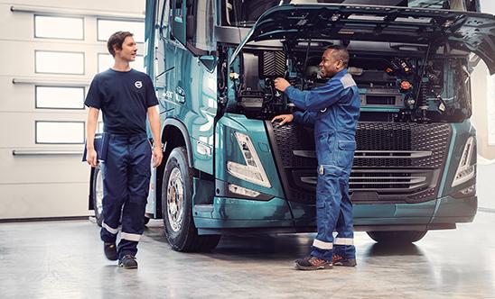 El servicio postventa  de Volvo Trucks