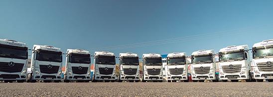 Flota de Mercedes Benz de Eurotransfret