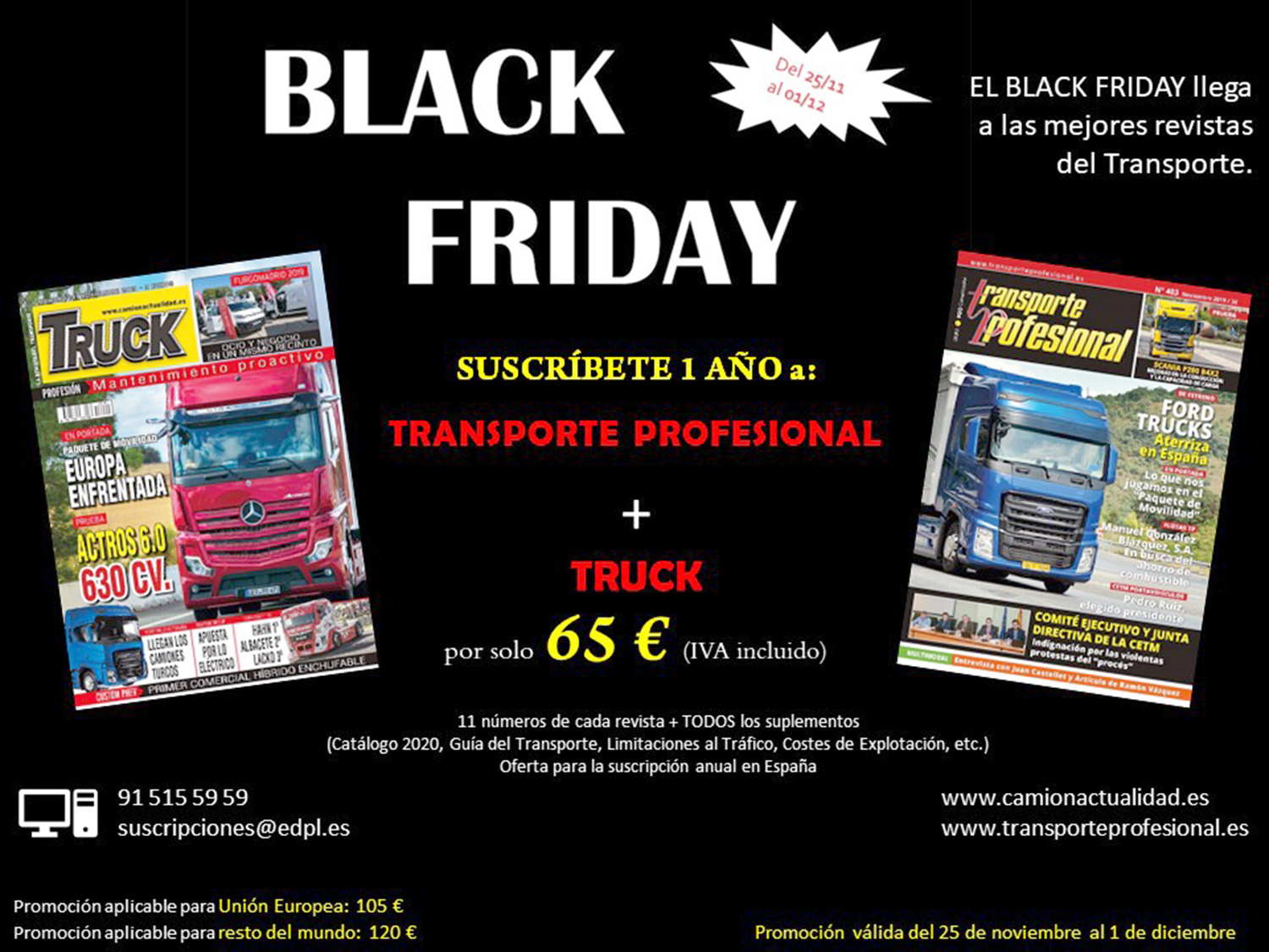 Black Friday Revista Transporte Profesional