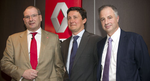 Laurent Farman, Bruno Blin y Phlippe Gorjux de Renault Trucks