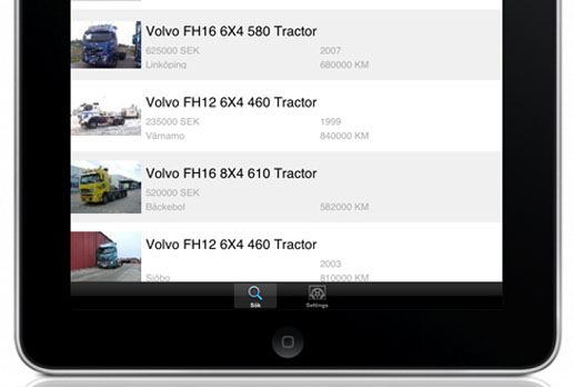 Truck Finder de Volvo Trucks