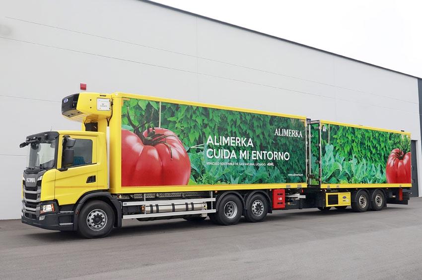 Alimerka adquiere el primer camión remolcador de GNL con motor Scania