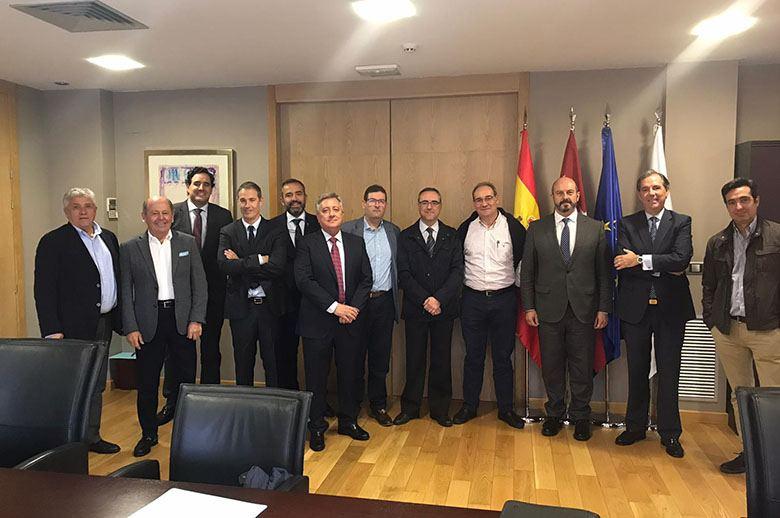 """CETM-Madrid explica a Pedro Rollán la """"difícil situación"""" del transporte de mercancías por carretera"""