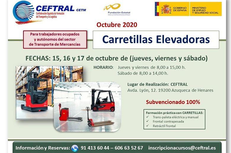 Curso CEFTRAL sobre carretillas elevadoras