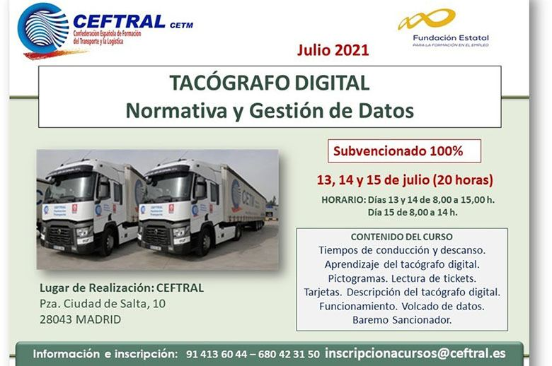 Curso CEFTRAL de tacógrafo digital