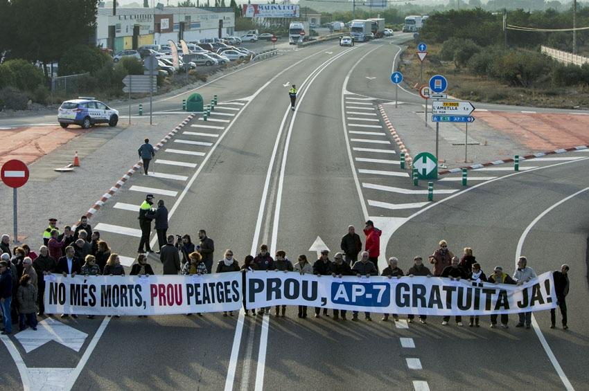 Feat Tarragona anuncia movilizaciones por la obligación de circular por la N-340 y N-240 a camiones