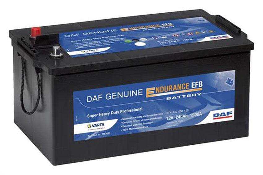 DAF mejora sus baterías Genuine Endurance EFB