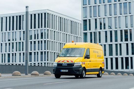 Furgoneta eTGE eléctrica en Berlín