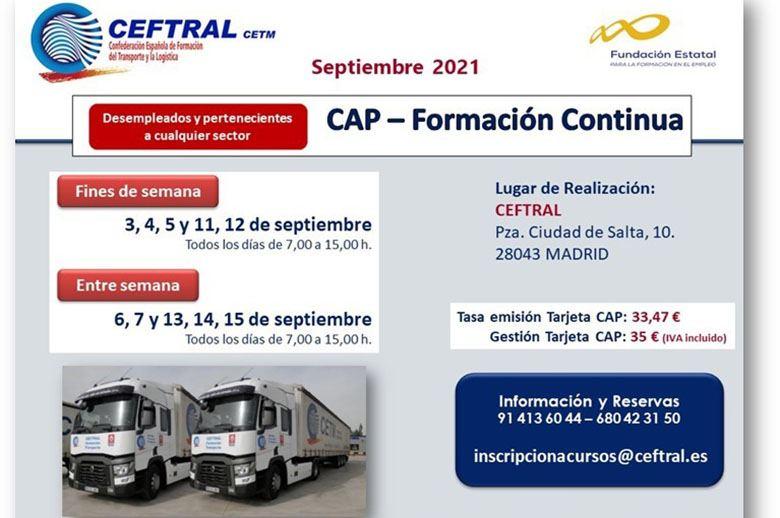 Cursos CAP de formación continua de CEFTRAL