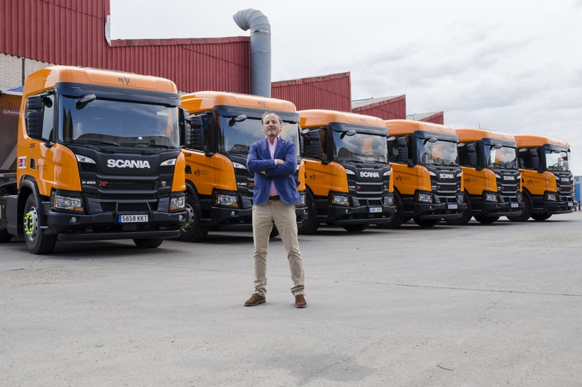 El Grupo Mat añade a su flota seis camiones Scania P450 XT
