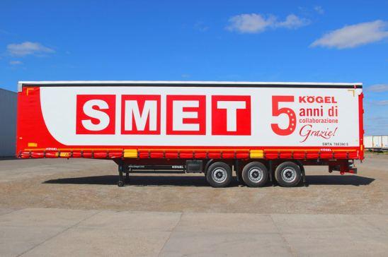 Kögel entregará 1.000 semirremolques a SMET