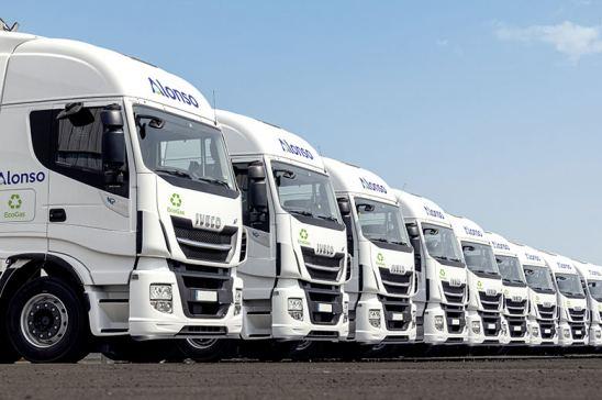 Flota renovada de Grupo Alonso con vehículos propulsados a gas natural