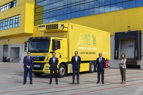 Primer camión 100% eléctrico MAN para Alimerka