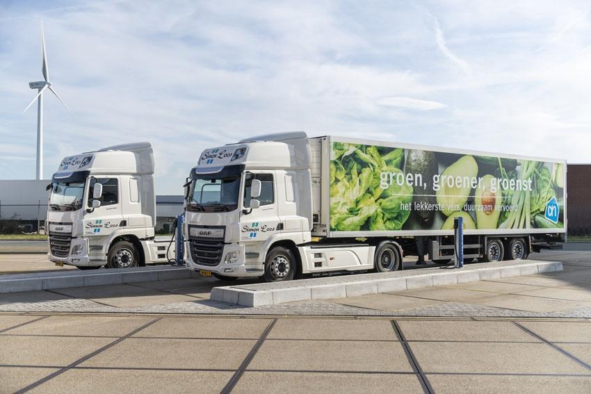 DAF y supermercados Albert Heijn colaboran para lograr entregas con cero emisiones