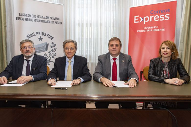 Correos Express prestará sus servicios al Ilustre Colegio Notarial del País Vasco