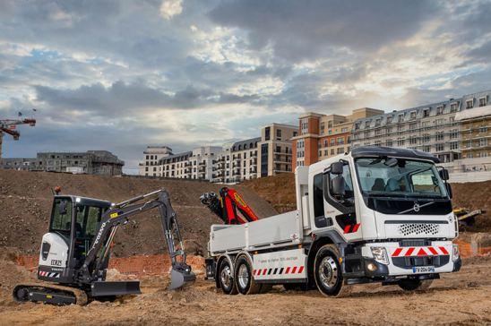 Camión eléctrico construcción
