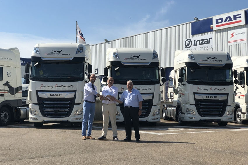 Marcotran adquiere 50 camiones DAF XF480