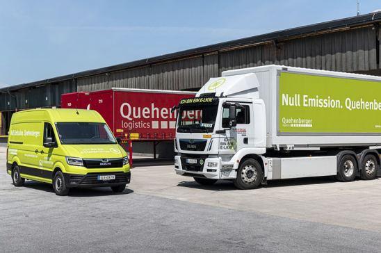 Furgonetas eléctricas eTGE para Quehenberger Logistics