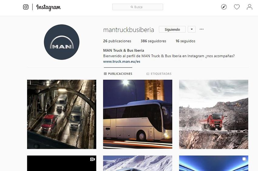 MAN Truck & Bus Iberia cuenta ya con perfil en Instagram