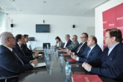 Reunión de los presidentes de la Cámara de Comercio y de la APBA