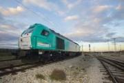 Transfesa Logistics lucha contra la emergencia climática con el lema de la Cumbre del Clima en una de sus locomotoras