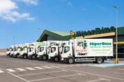 Dinosol adquiere ocho camiones Volvo para sus supermercados HiperDino