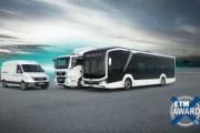 MAN gana el premio al mejor camión, mejor furgoneta y mejor autobús en los ETM Awards 2020