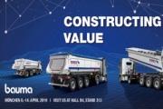 Bauma 2019 contó con los semirremolques de Schmitz Cargobull