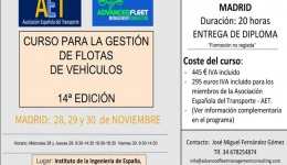 Nuevo curso sobre gestión de flotas de vehículos de Advanced Fleet Management Consulting