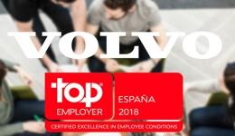 Volvo España consigue el certificado Top Employers España 2018