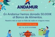 Andamur hace una donación de 50.000 € al Banco de Alimentos